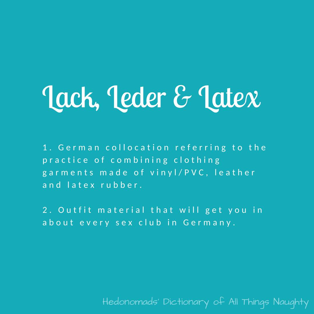 lack leder latex